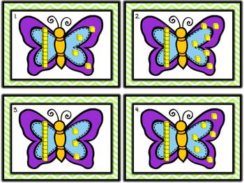 Butterfly Addition (using base ten blocks)