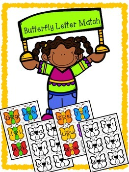 Butterfly Alphabet Matching - Upper case and Lower case Match Activity