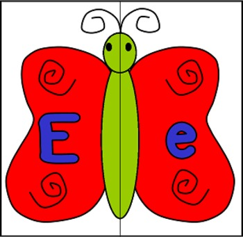 Butterfly Alphabet Puzzles Matching Game