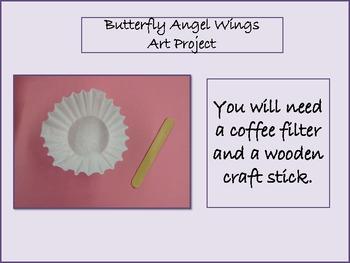 Butterfly Angel Wings Art Project