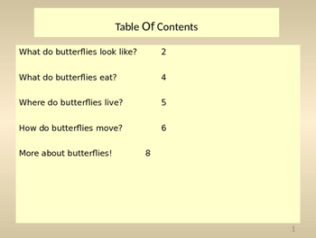Butterfly Animal Book