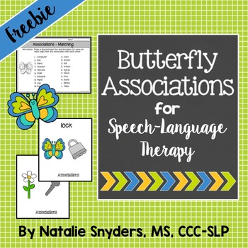 Butterfly Associations for Speech Language Therapy