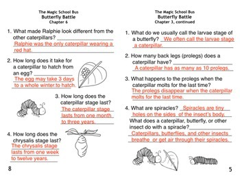 Butterfly Battle - Magic School Bus Chapter Book/Butterfly Life Cycle