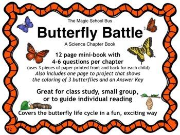 Butterfly Battle - Magic School Bus Chapter Book/Butterfly