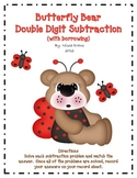 Butterfly Bear Double Digit Subtraction (with borrowing)