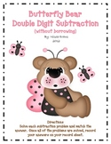 Butterfly Bear Double Digit Subtraction (without borrowing)