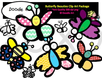 Butterfly Beauties Clipart pack