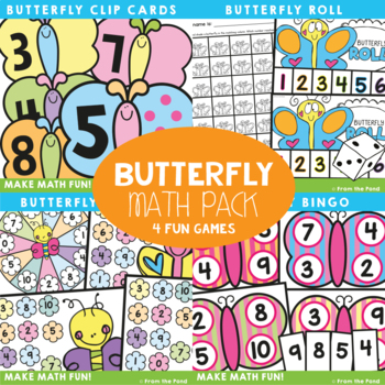 Butterfly Number Games {Numbers to 10}