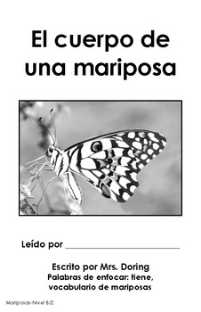 Butterfly Body Parts Minibooks BILINGUAL {Leveled Readers}