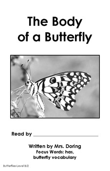 Butterfly Body Parts Minibooks ENGLISH {Leveled Readers}