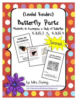 Butterfly Body Parts Minibooks SPANISH {Leveled Readers}