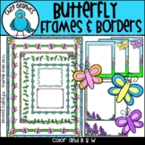 Butterfly Borders and Frames Clip Art - Chirp Graphics