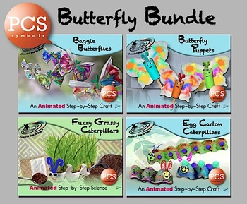 Butterfly Bundle - Animated Step-by-Steps PCS Symbols