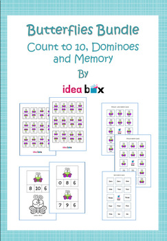 Butterfly Bundle - Counting to 10 & Dominoes