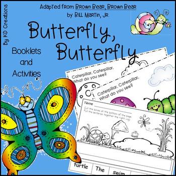 Butterfly, Butterfly for Kindergarten * Booklets * Alphabe