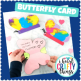 Butterfly Card Template -Easy Mother's Day Card for kids
