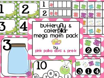Butterfly & Caterpillar Mega Math Pack ~ Numbers, Counting, Patterns