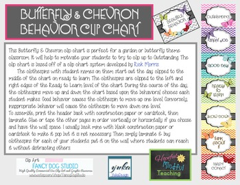 Butterfly & Chevron Behavior Clip Chart