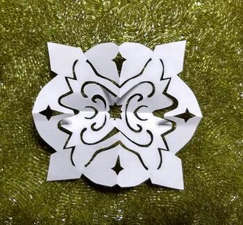 Butterfly Chrismon Snowflake