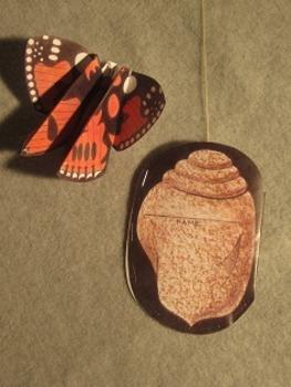 Butterfly & Chrysalis Project. Fun Craft Art