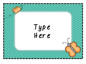 Butterfly Classroom Signs & Behavior Signs - Editable