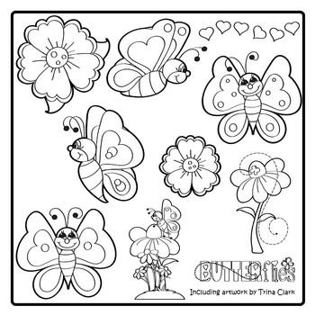 Butterfly Clip Art - Bright