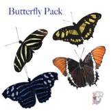 Butterfly Clip Art Bundle of Four