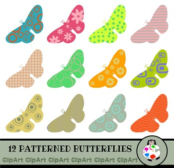 Butterfly Clip Art - Insect Icon Graphics
