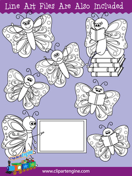 Butterfly Clip Art Set