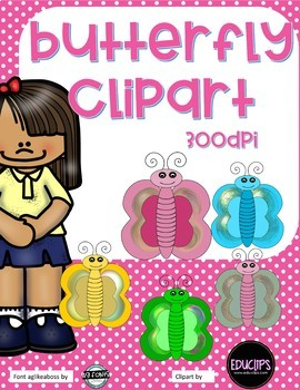 Butterfly ClipArt- 20 designs - 300 DPI