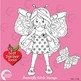 Butterfly Clipart, Butterfly Girls Digital Stamps, Black Line AMB-12252