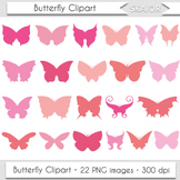 Butterfly Clipart Silhouette Pink Insect Butterfly Wings P