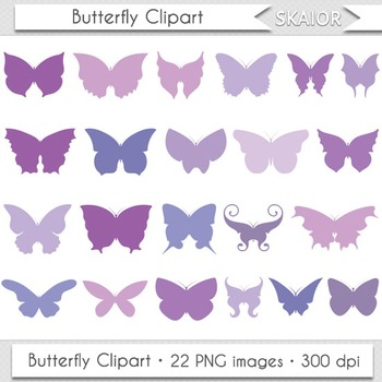 Butterfly Clip Art Silhouette Violet Insect Butterfly Wings Clipart Printable