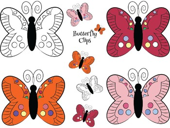 Butterfly Clips {Freebie}