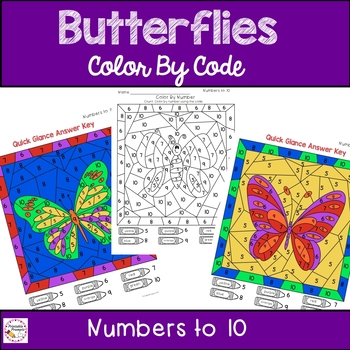 Butterfly Color By Number