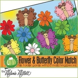 Butterfly Color Matching File Folder Game