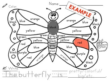 Butterfly: Color by Color Words