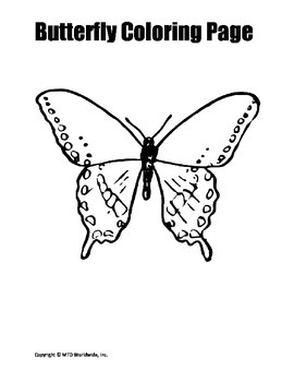 Butterfly Coloring Page Bundle