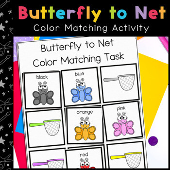 Butterfly Colors Matching Folder Game for Early Childhood Special Education