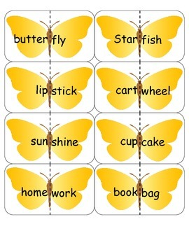 Butterfly Compound Words