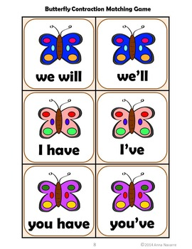 Butterfly Contraction Matching Game