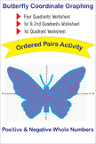 Butterfly Coordinate Graphing Ordered Pairs Activity