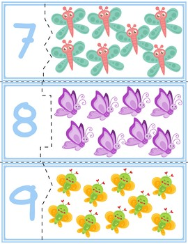 Butterfly Correcting Quantity Puzzles | Numbers 1-12