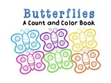 Butterfly Counting Adapted Book for Special Education and Autism Students