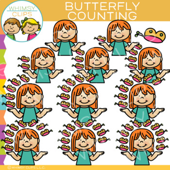 Butterfly Counting Clip Art