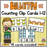 Butterfly Counting Clip Cards 1-12