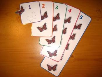 Butterfly Counting Game PDF - 5 Colorful Numbers Numeracy Maths SEN ABA
