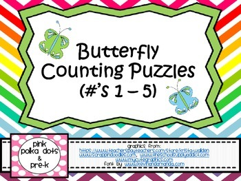 Butterfly Counting Puzzles (#'s 1 - 5)