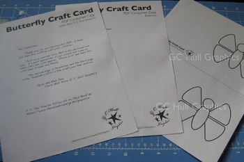 Butterfly Craft Card Template PDF