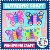 Butterfly Craft Template | Fun Spring Craft Activity
